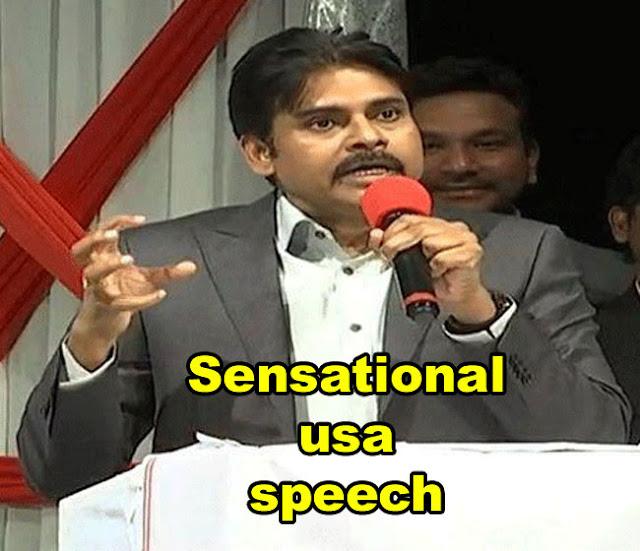 Pawan Kalyan sensational USA Speech