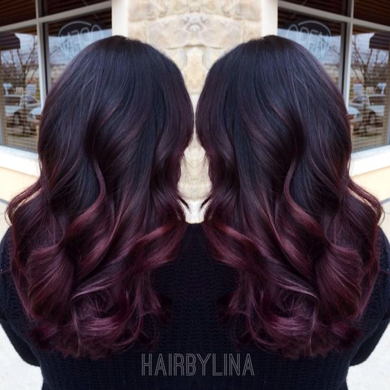 9 hottest burgundy ombre hair color ideas for 2017