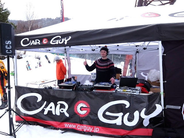 長野県竜王スキーパークで行われたカーガイスノーフェスティバルへDJ出演した時の写真です。