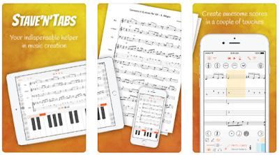 تحميل تطبيق Stave'n'Tabs كتابة النوته الموسيقية للهاتف و الحاسوب