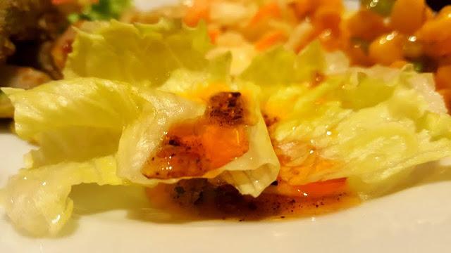 honey pepper sauce salad dressing lettuce