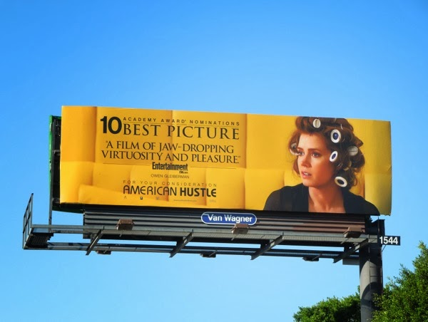 American Hustle Oscar nomination billboard