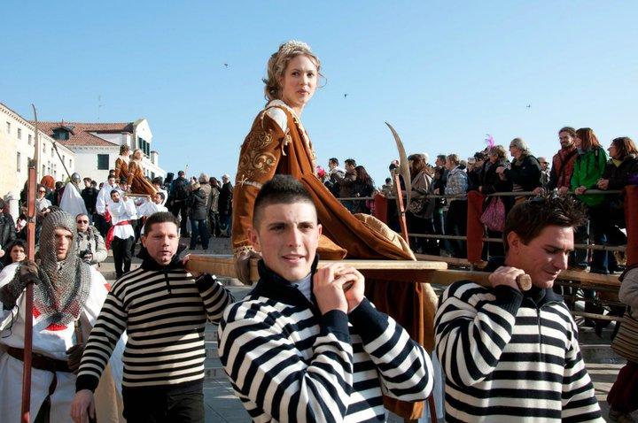 The procession of the Twelve Maria's, Venice Carnival 2011, Venice, Veneto, Italy