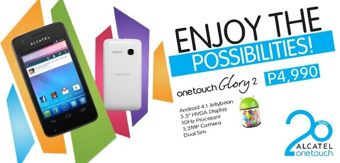 Enjoy the Possibilities with Alcatel One Touch Glory 2