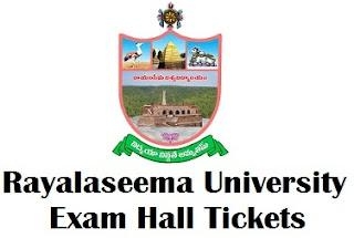Rayalaseema University Kurnool Hall Tickets 2017