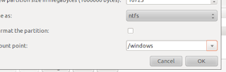 إظهار ملفات الويندوز عن استخدام نظام لينكس