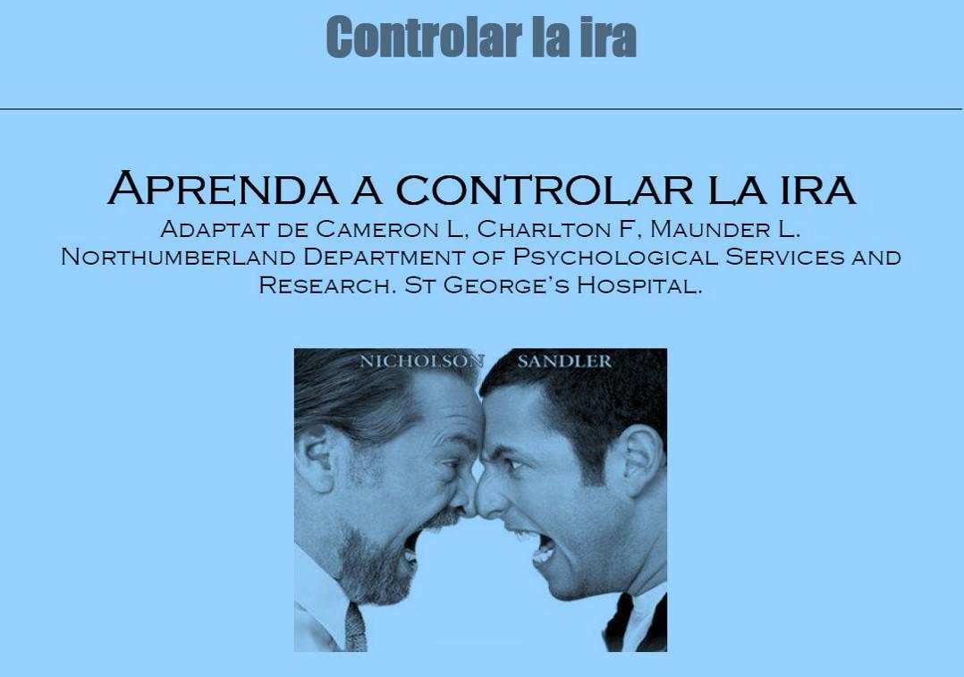 Aprenda a controlar la ira