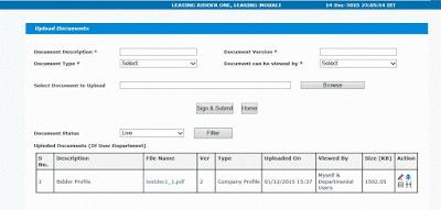 IREPS Works Tender Bidder View Upload Documents