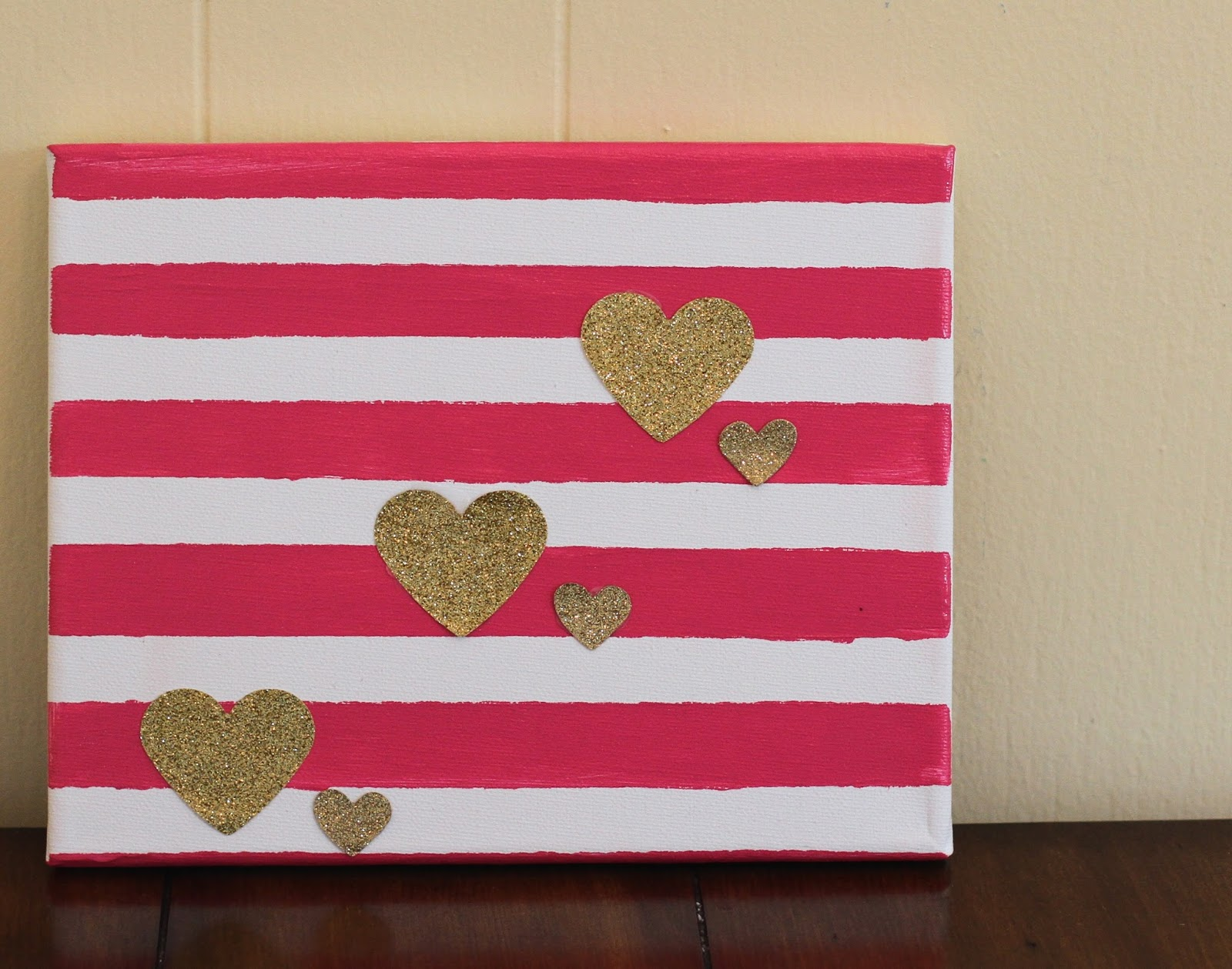 Canvas Painting Ideas Canvas Glitter Valentine