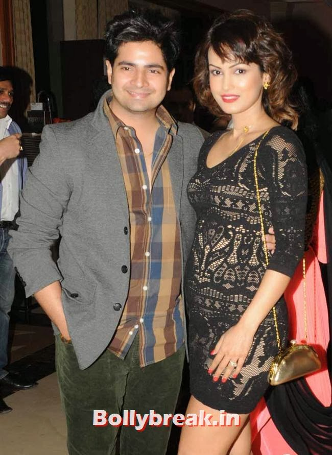 Karan Mehra along with his with wife Nisha Rawal, Page 3 Celebs at Rohit Varma's A Beautiful You Inside Out Show