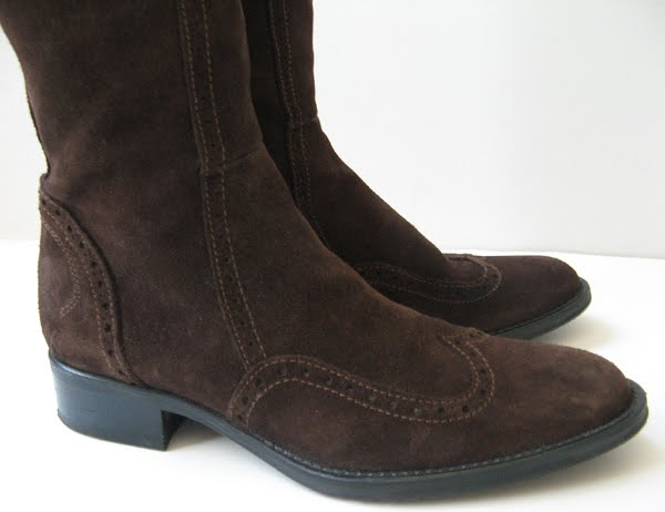 Tall Riding Boots Womens Size 7 Brown Suede Boots 7 5