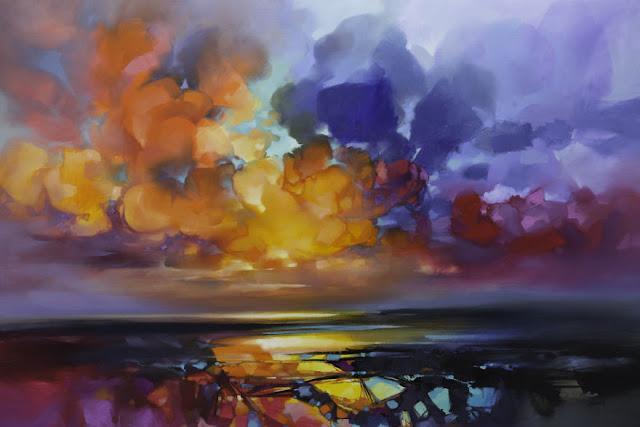 'Euphoric Sky', 180 x 120cm, minyak di linen