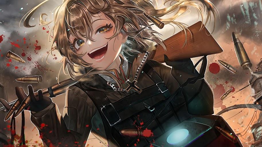 The Saga of Tanya the Evil, Anime, Girl, Tanya, 4K ...