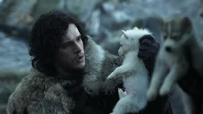 Cachorros husky siberiano en la serie Juego de Tronos