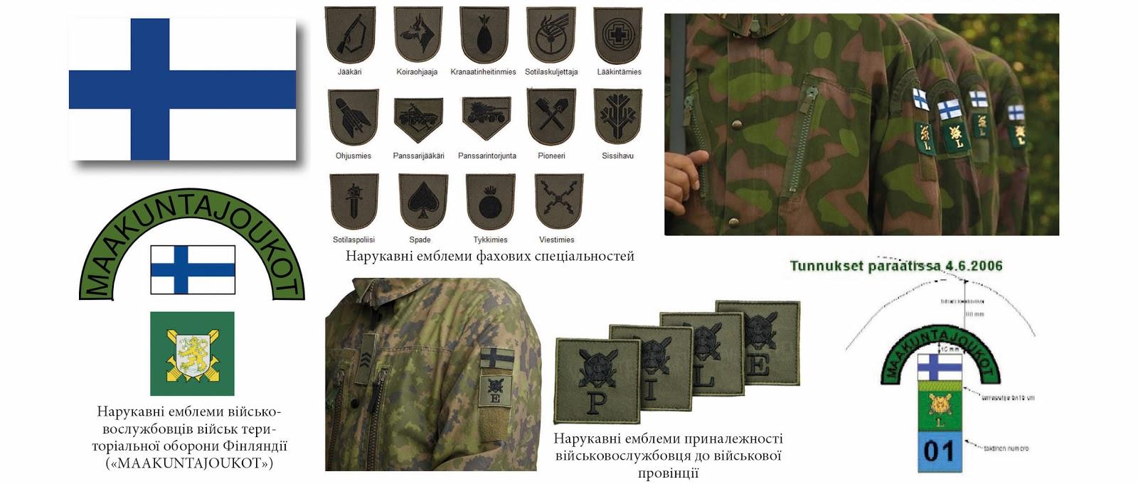 нарукавні емблеми тероборони ЗС Фінляндія