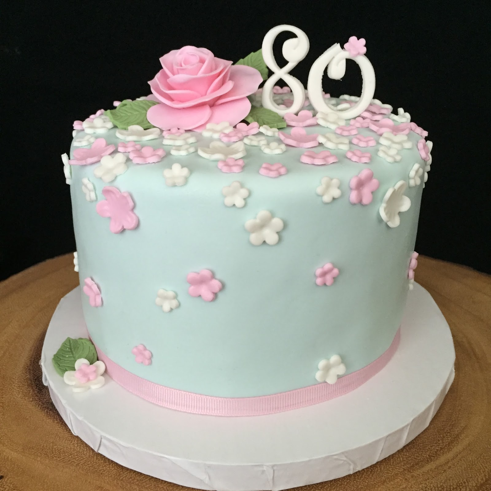 Female 80th Birthday Cake Ideas