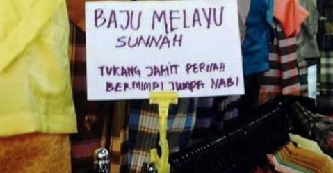 Trik Penjual `Baju Melayu Sunnah` Ini Bikin Geleng Geleng Kepala