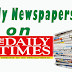 NAIJA NEWSPAPERS: TODAY'S THE DAILY TIMES NEWSPAPER HEADLINES [22 OCTOBER, 2017].
