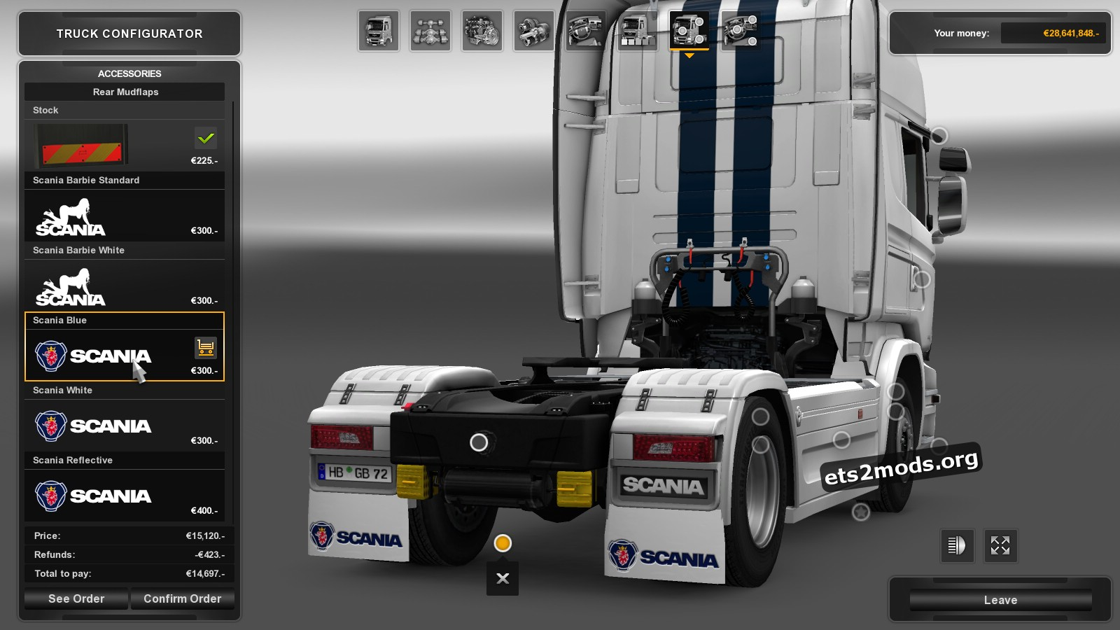 Mudflap pack for Scania v 1.1