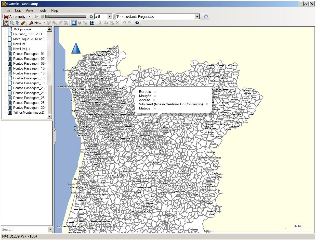 mapa de portugal com freguesias TopoLusitania   Mapa Topográfico de Portugal para GPS em formato  mapa de portugal com freguesias