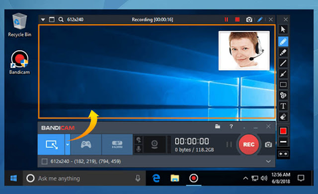 Bandicam - Software Perekam Layar PC Terbaik Windows