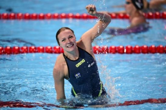 Sarah Sjostrom - Record du 100 m papillon
