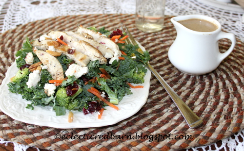 Eclectic Red Barn: Chicken Salad with Basil Balsamic Dressing