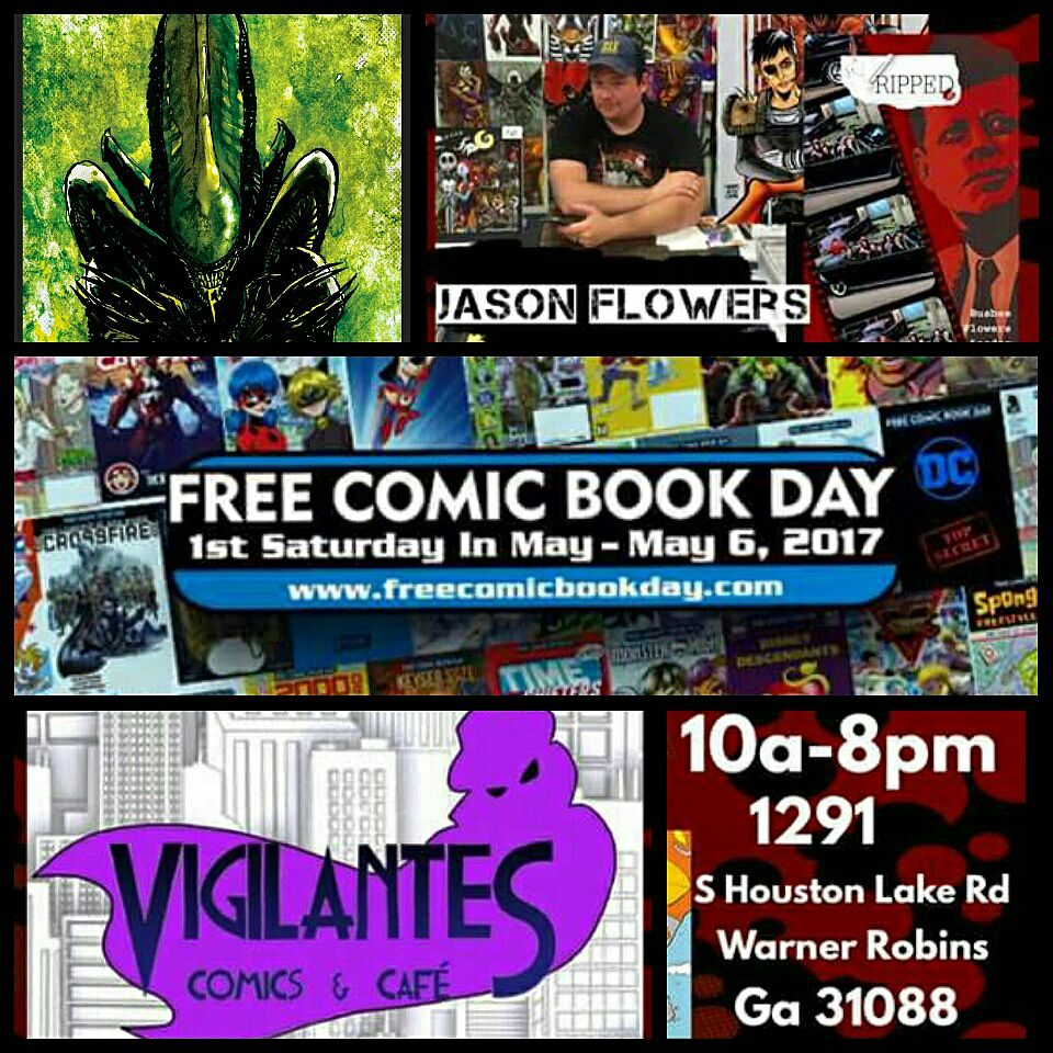 Free Comic Book Day Parramatta: The Art Of Jason Flowers: SATURDAY, MAY 6TH