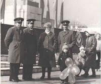 (ФОТО)Б. Берлов, Г. Черданцев, В. Каргаев на городской площади