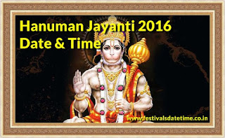 Hanuman Jayanti 2016 Date & Time in India