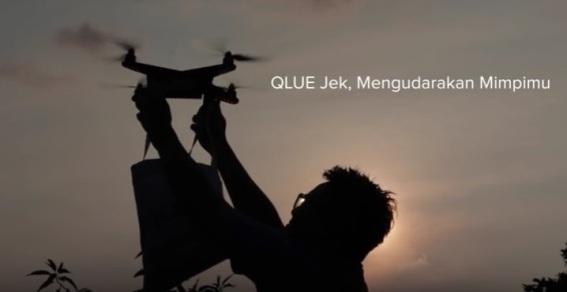 Pengiriman Barang Lewat Drone Pertama di Jakarta Melalui Aplikasi Qlue-Jek