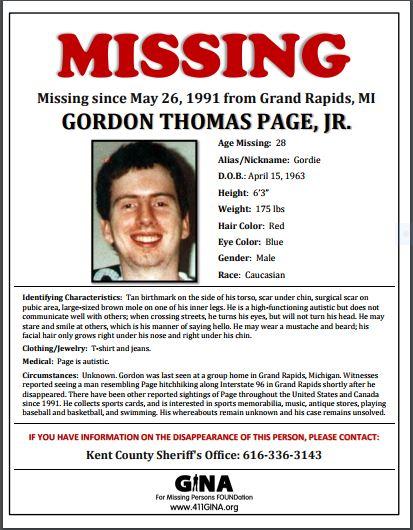 Quick Entry # 2: Missing-Gordon Thomas Page Jr