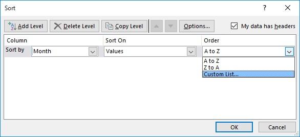 Under Order Select Custom List