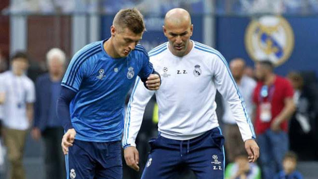 Toni Kroos and Zidane