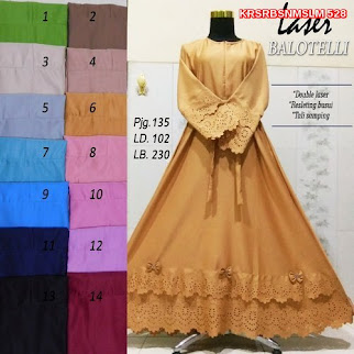 KRS528 Model Gamis Syari Balotelli Murah BMG Shop