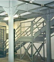 Steel I Joist Beam and Column Mezzanine