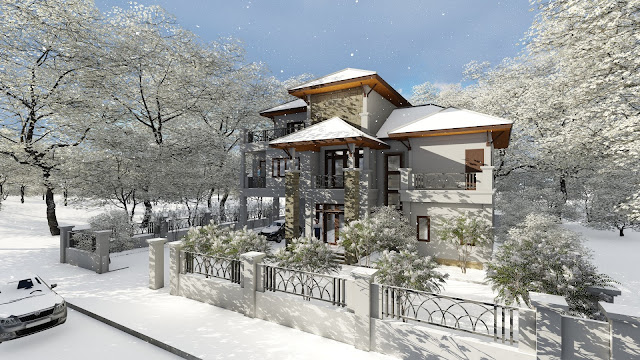 Modern vila design 17 lumion render free sketchup model sam architect - Modern vila design ...