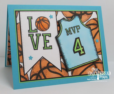 ODBD Basketball Stamp/Die Duos, ODBD All-Star Jerseys, ODBD Custom Sports Jerseys Dies, ODBD Custom Pierced Rectangles Dies, Card Designer Angie Crockett