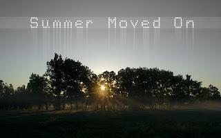 солнце за деревьями, олицетворение уходящего лета