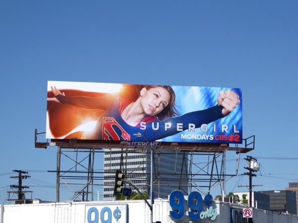 Supergirl CBS series launch billboard