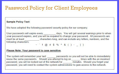 Password Policy for Client Employees