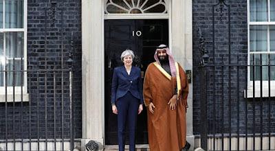 رئيسة وزراء بريطانيا وولي عهد السعودية