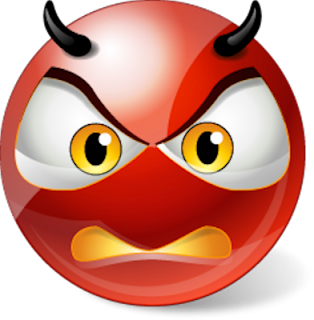 Angry Devil Smileys