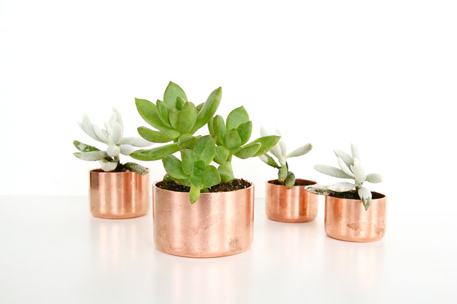Diy Faux Copper Planters Dimples And Tangles