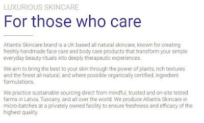 About  Atlantis Skincare brand