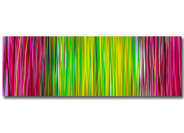 contemporary, art, abstract, pink, yellow, green, wall art, panoramic, modern, Sam Freek,