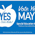 Please Vote Yes: Washtenaw County Special Ed. Millage May 3