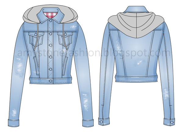 amy stone fashion flat sketches destroyed denim jacket 0028