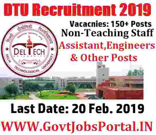 Delhi Technological University Recruitment 2019