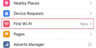 Find Wi-Fi Facebook